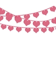 pink hearts love garlands festive romantic vector image vector image