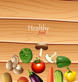Poster design with fresh vegetables vector image vector image