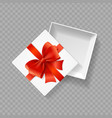 realistic detailed 3d white present box vector image vector image