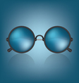 Retro blue sunglasses vector image