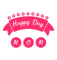 ribbon with text mother day vector image