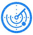 round radar grunge icon vector image vector image