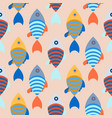 seamless pattern with school of fish bright vector image vector image
