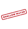 Shallow Water Rubber Stamp vector image vector image