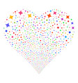 sparcle star fireworks heart vector image