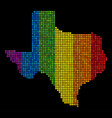spectrum dotted texas map vector image