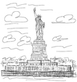 statue liberty vector image vector image