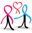 Support people infected with AIDS vector image vector image