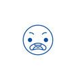 surprised emoji line icon concept surprised emoji vector image vector image