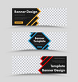 templates black web banners with color strokes vector image vector image