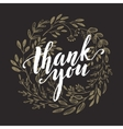 Thank you golden lettering design vector image vector image