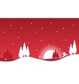 The winter Christmas landscape collection vector image vector image
