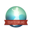 tour to finland vector image vector image