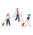 travelling coronavirus outbreak tourism concept vector image vector image