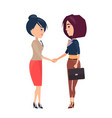 two cheerful businesswomen s vector image