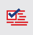 united stated america presidential election vot vector image vector image