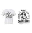 warriors fight club t-shirt print martial arts vector image vector image