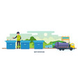 waste for recycling cleaning city waste vector image vector image