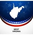 West Virginia vector image