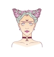 Young subcultural girl with choker and dark moon vector image vector image