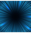 radial blue light speed lines fast motion effect vector image
