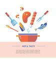 banner about picnic and grill party vector image
