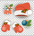 colorful patch badges of different merry christmas vector image