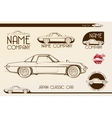 Japan classic sports car silhouettes vector image
