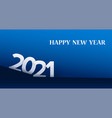 2021 happy new year background in paper style vector image vector image