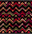 abstract colorful coral zigzag line pattern vector image vector image