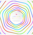 abstract colorful stripe line pattern circle vector image vector image
