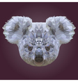 Abstract Low Poly Koala Design vector image