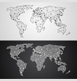 abstract polygonal world map from triangles and vector image vector image
