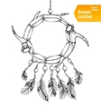 American Indian dream catcher with feathers vector image