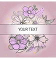 Background with vintage flowers vector image vector image