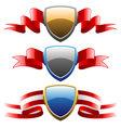 badges and ribbons set vector image vector image