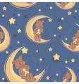 bear sweet dreams seamless vector image vector image