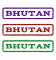 bhutan watermark stamp vector image