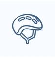 bicycle helmet sketch icon vector image vector image