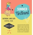 Bohemian summer music event and festival poster vector image vector image