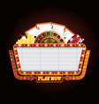 brightly theater glowing retro casino neon sign vector image