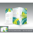 Brochure template design with 3d glass circles vector image vector image