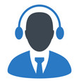 call center agent flat icon vector image vector image