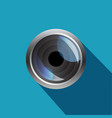 camera lens realistic icon of vector image vector image