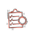cartoon document icon in comic style project vector image