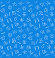 chemistry blue concept seamless pattern vector image vector image