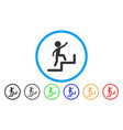 child steps upstairs rounded icon vector image