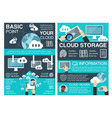 cloud storage banner for information technology vector image vector image
