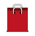 color image cartoon realistic red bag for shopping vector image vector image