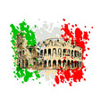 colored sketch roman colosseum vector image